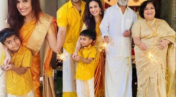 Soundarya Rajinikanth family Diwali 2020 Celebration photos!