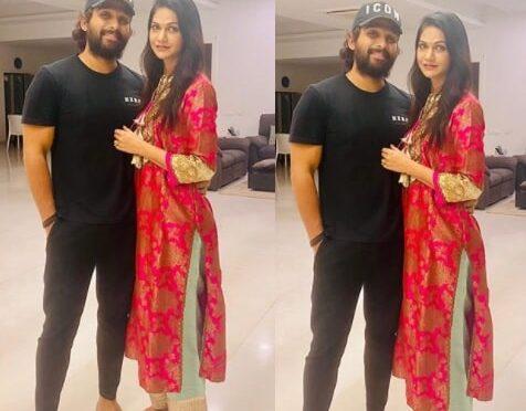 Allu Arjun and wife Sneha celebrate Atla Taddi!