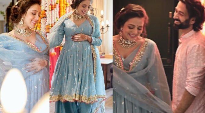 Ishqbaaz Actor Nakuul Mehta wife Jankee Parekh Mehta Godhbharai ( Baby shower) photos!