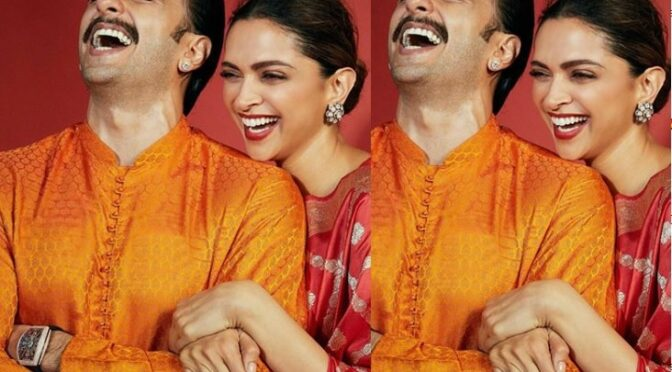Ranveer and Deepika Celebrates diwali 2020 festival in bright outfits!