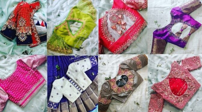 2021 Mind-blowing maggam work blouse designs by Anu Designs & Fashions!
