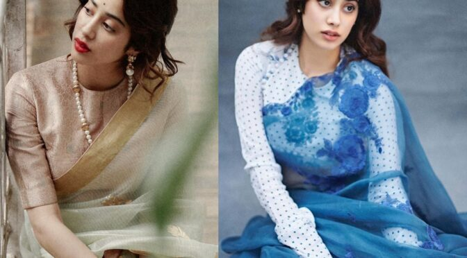 Janhvi Kapoor looking stunning in saree for the recent photoshoot!