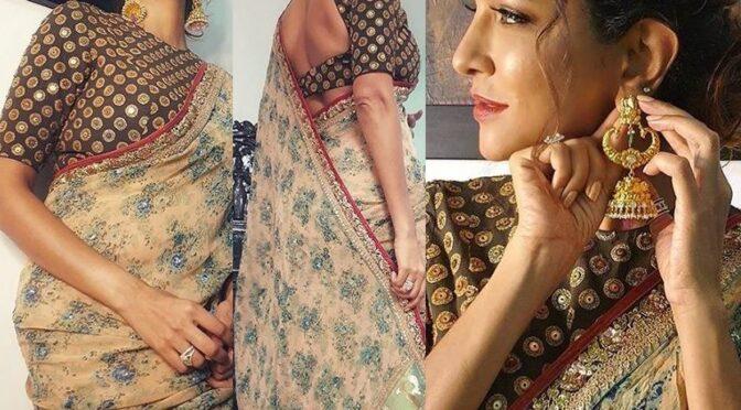 Lakshmi Manchu in Sabyasachi saree for Zee Kutumbam Awards 2020!