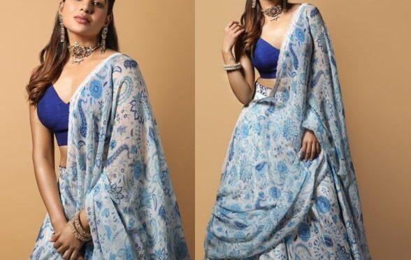 Diwali 2020 : Samantha akkineni in Mrunalini Rao Lehenga!