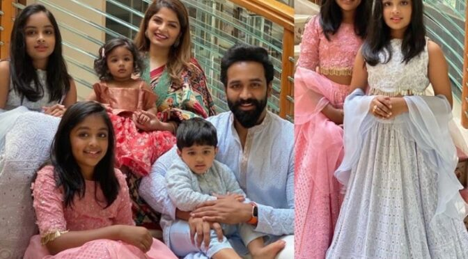 Vishnu manchu family Diwali celebration photos!
