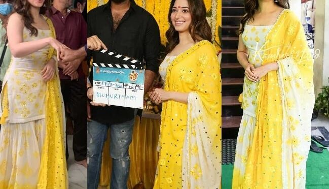Tamannaah attends F3 movie launch event in Sharara suit!