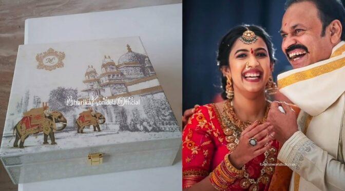 Nagu babu daughter's Niharika Konidela wedding card is really beautiful!