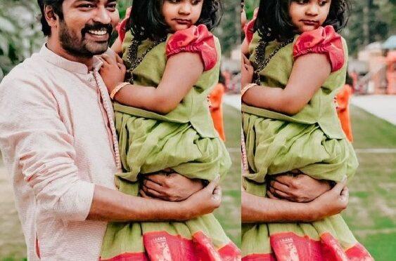 Allari Naresh daughter looking adorable in Traditional pattu pavadai!