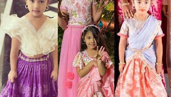 Allu Arjun daughter looked cute in beautiful outfits at Niharika Konidela's wedding festivities!
