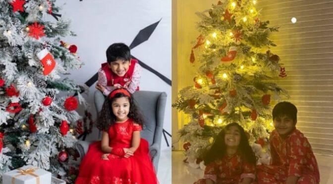 Allu Arjun's kids Ayaan and Arha looking cute in Red outfits!