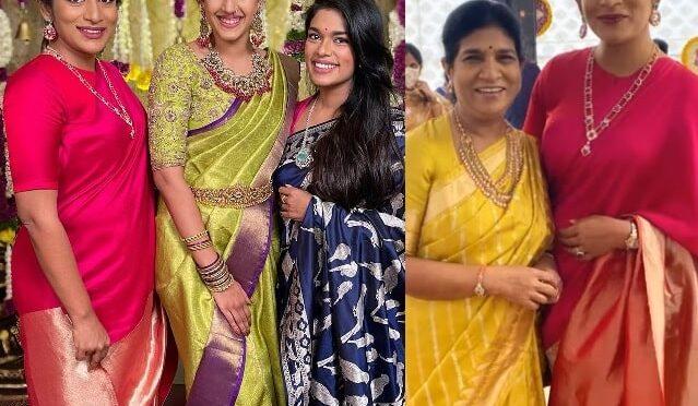 Sreeja, Sushmitha and Surekha konidela at Niharika Pellikuthuru function!