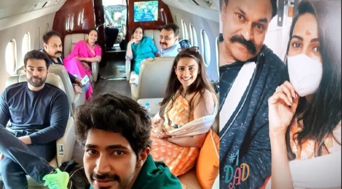 Mega princess Niharika konidela family fly to Udaipur for destination wedding!