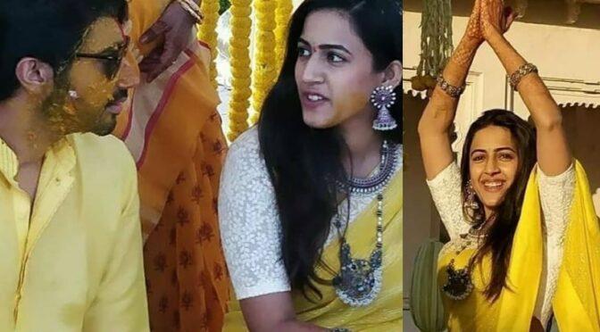 Niharika konidela and Chaitanya Haldi function photos!