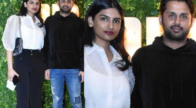 Actor Nithiin and Wife Shalini attended Dilraju 50th birthday bash!