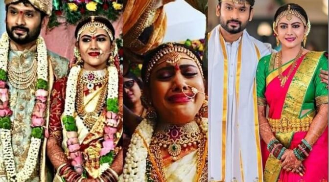 Vadinamma Serial fame Priyanka reddy and Madhubabu wedding photos!