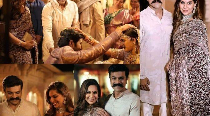 Ram Charan and Upasana at Niharika Konidela's wedding!