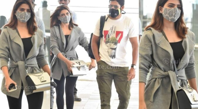Samantha and Naga Chaitanya in trendy outfits spotted in airport!