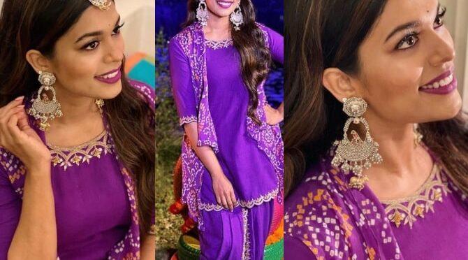 Sreeja Kalyan looking beautiful in dhoti salwar at Niharika's Mehendi Ceremony!