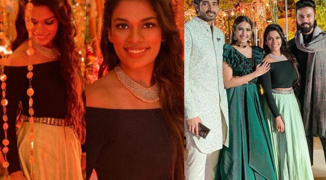 Sreeja kalyan looking gorgeous at Niharika's sangeet function!