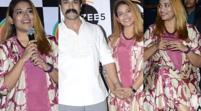 Sushmita Konidela in lavender floral outfit for 'Shootout at Alair' showreel launch!