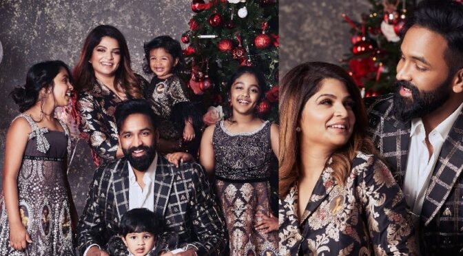 Vishnu manchu family Christmas Celebration photos!