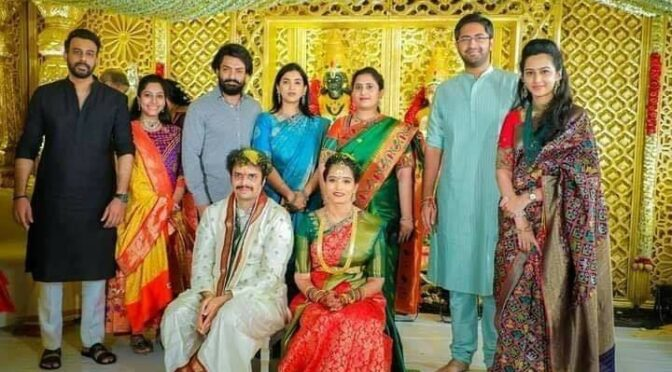 Sr NTR grandson Chaitanya Krishna Nandamuri wedding photos!