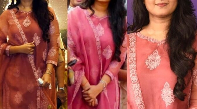 Anushka Shetty looking cute in scarlet kurta-set by Torani!