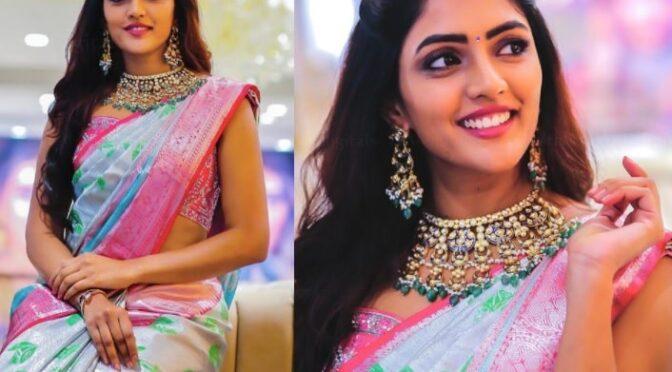 Eesha Rebba looking gorgeous in Kanjeevaram saree!