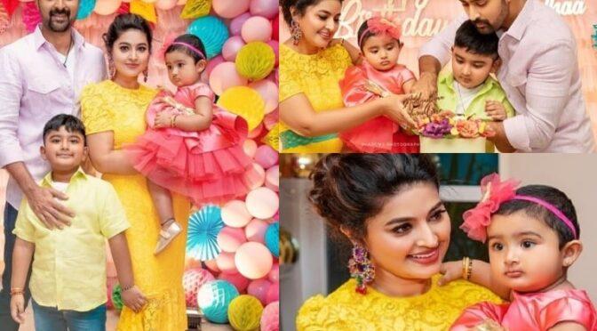 Actress Sneha Prasanna daughter Aadhyantaa's 1st birthday photos!