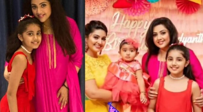 Meena and her daughter at Sneha's daughter first birthday function!