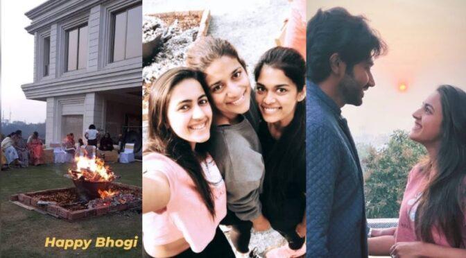 Bhogi 2021 : Megha family Bhogi festival celebration photos!
