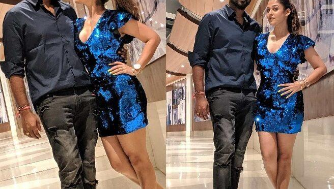 Vignesh Shivan and Nayanthara twinning in shades of blue!