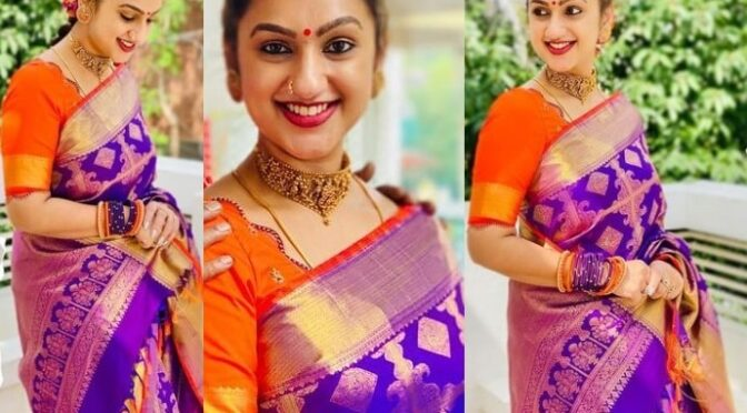 Pritha Hari stuns in Traditional silk saree by Muhurth