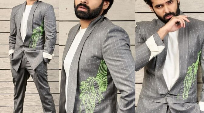 Ram Pothineni in manish malhotra at Red Pre Release event!