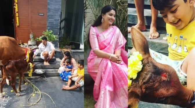 Actress Sneha family Sankranthi celebrations!