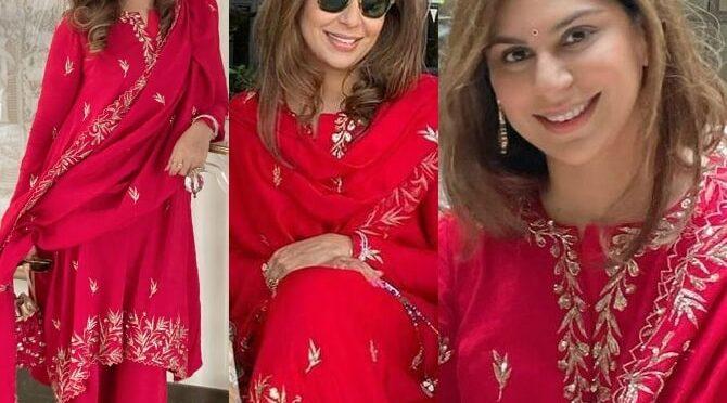 Upasana Konidela in Red outfit for Sankranthi Celebrations!