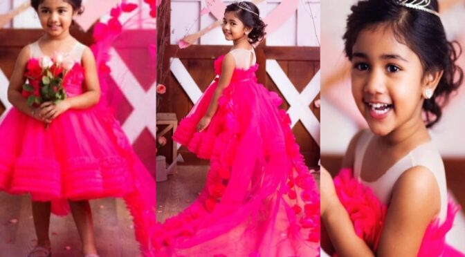 Allu Arha looks like a princes in a pink dress for this special Valentine's day!