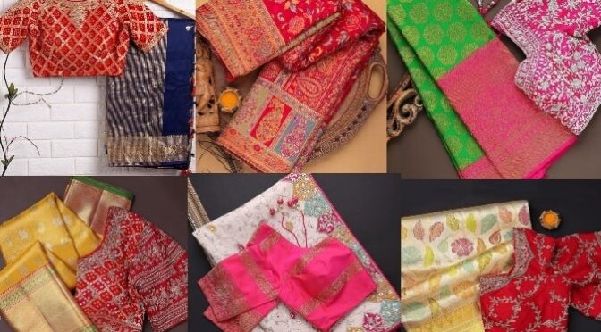 Mind blowing designer and pattu saree collection from the brand Samyakk sarees!