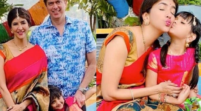 Lakshmi manchu and her daughter in traditional outfits!