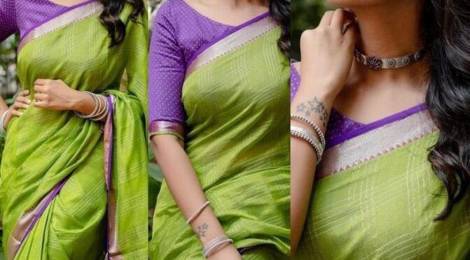 Priya Bhavani Shankar stuns in green silk saree!