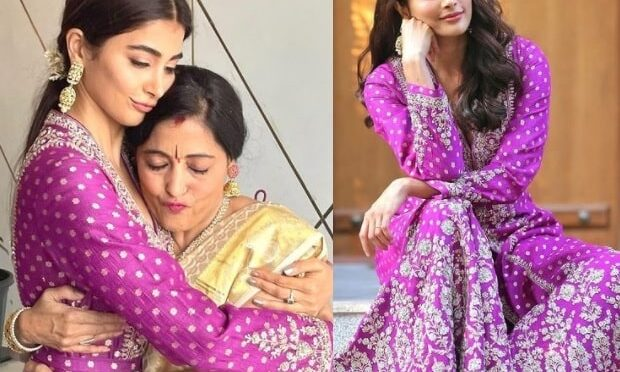 Pooja Hegde and her mom in traditional outfits!