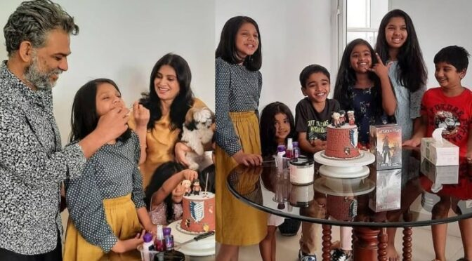 Allu bobby daughter Allu Anvitha's 12th birthday celebration photos!