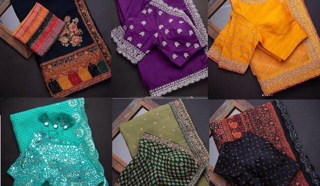 Mind blowing designer sarees and designer blouses by SAMYAKK SAREES