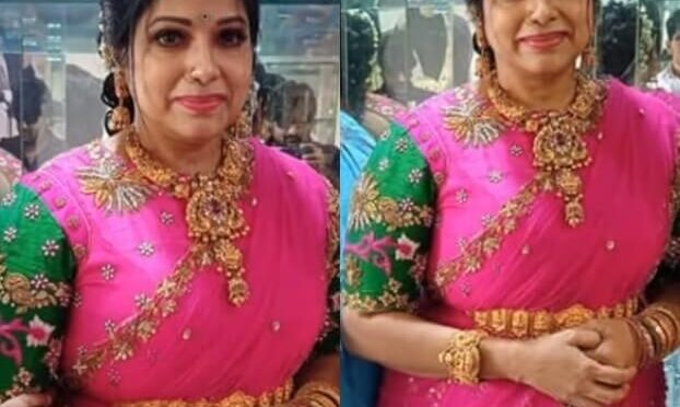 Haritha jackie stuns in Pink Half saree at a recent family function!