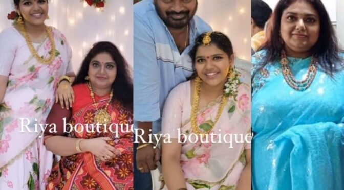 Actress Ravali and her daughter in traditional outfits at a family function!