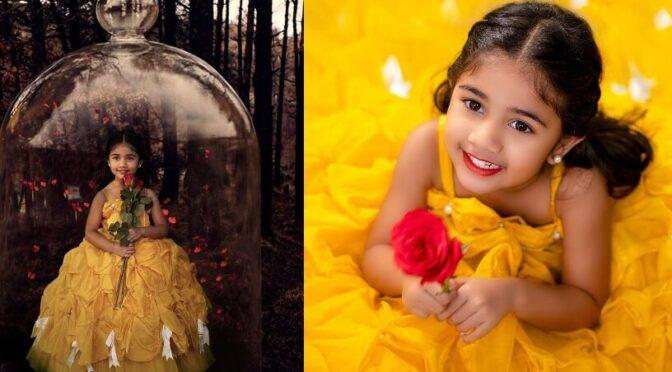 Allu Arjun's daughter Arha  looking cute in sunshine yellow ball gown!