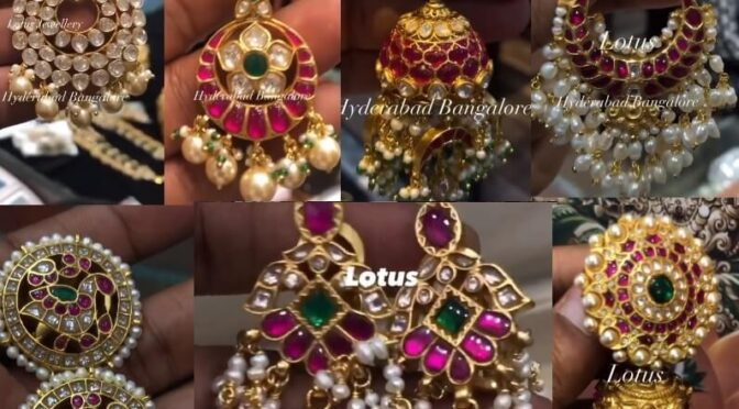 Mind blowing 92.5 silver ear rings collections from Antique Jewellery Lotuss