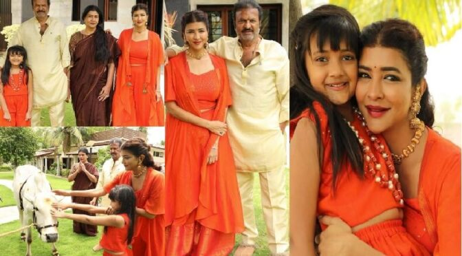 Lakshmi Manchu family ugadi celebration photos!