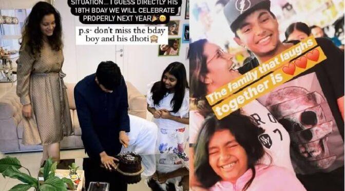 Renu Desai shares son Akira nandan 17th birthday celebration photos