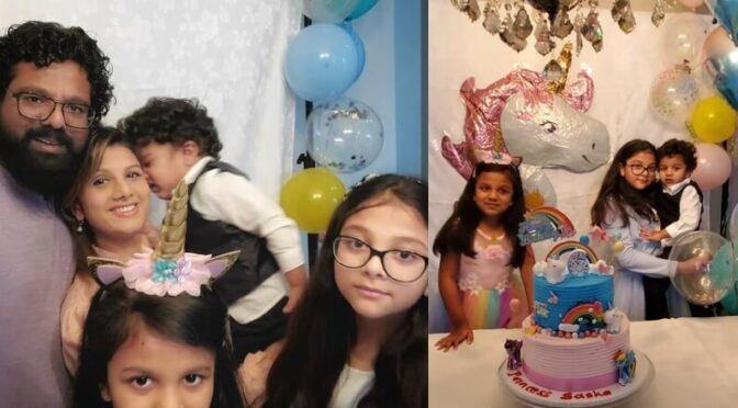 Actress Rambha daughter birthday celebration photos!